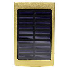 Зовнішній акумулятор з сонячною батареєю Solar PB-6 6000mAh Gold (1031-10371)