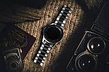 Ремінець BeWatch сталевий 22 мм Duo для Samsung Galaxy Watch 46 mm/Gear 3 Silver Black (1025411), фото 6