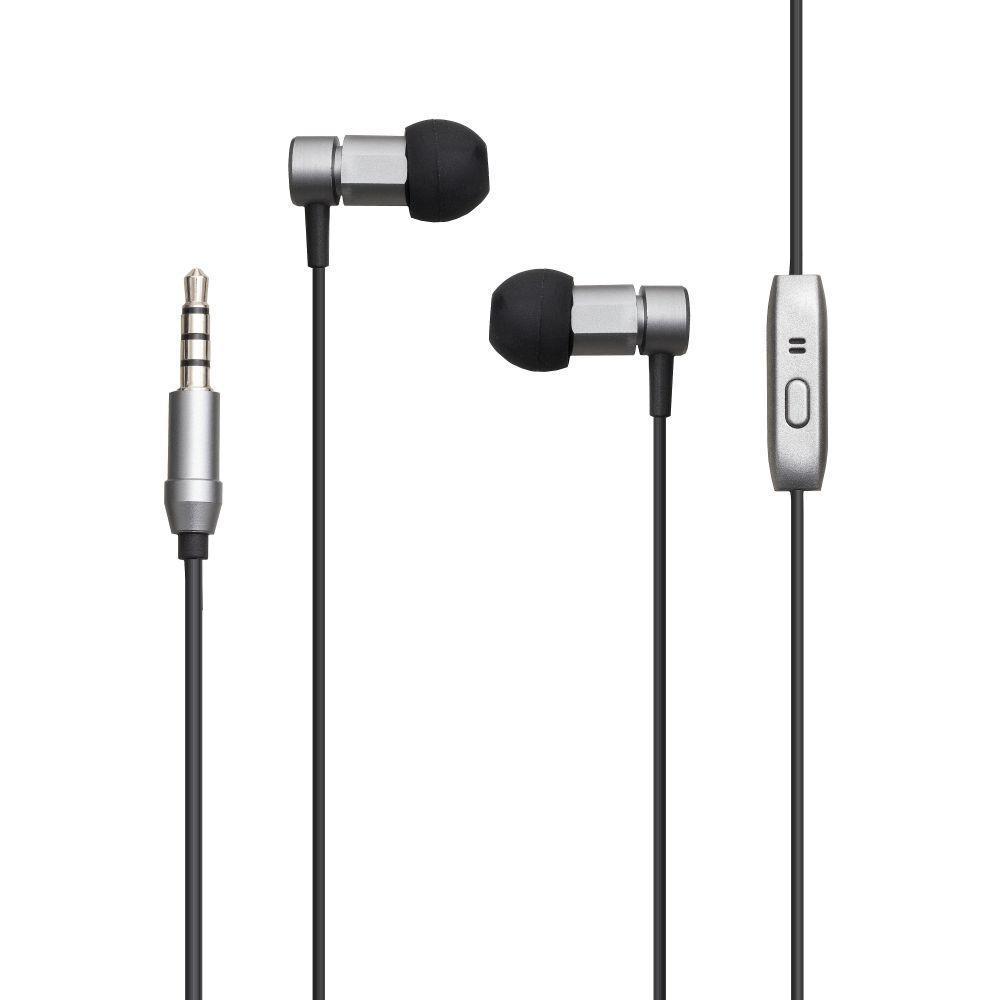 Вакуумні навушники Remax RM-630 гарнітура для телефону Сірий