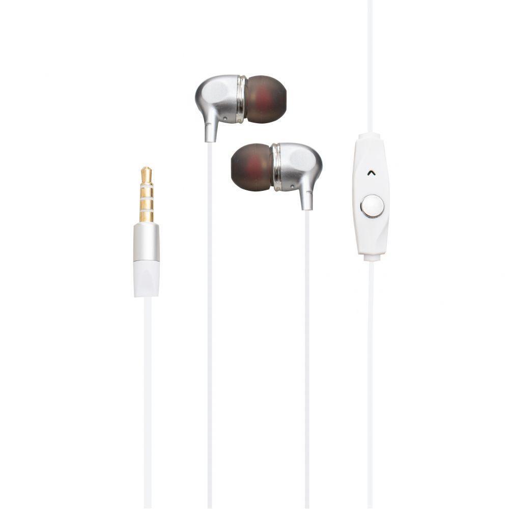 Вакуумні навушники Deepbass D-155 гарнітура для телефону Білий