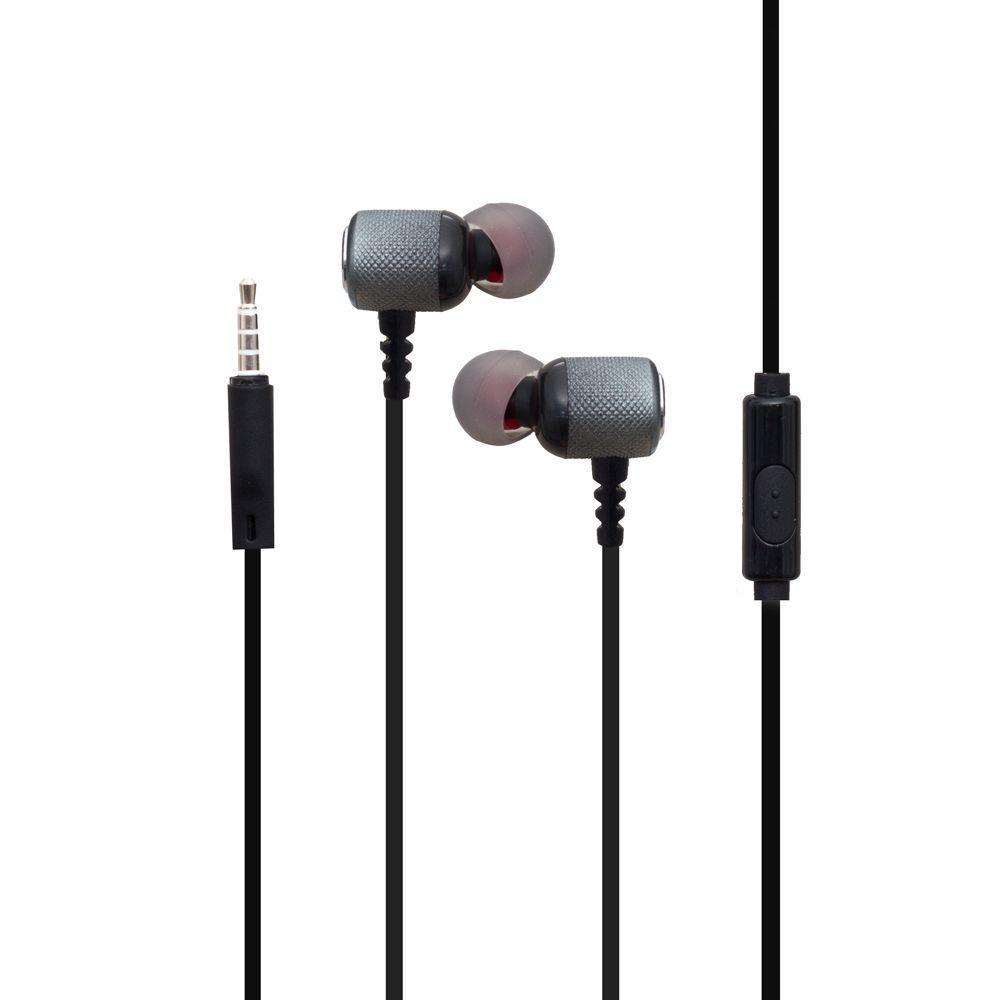 Вакуумные наушники Deepbass D-EX-157 гарнитура для телефона Серый