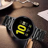 Ремешок стальной BeWatch 20 мм для Samsung Galaxy Active/Active 2 40 mm Черный (1110401), фото 6