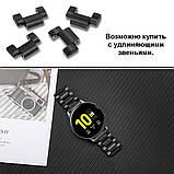 Ремешок стальной BeWatch 20 мм для Samsung Galaxy Active/Active 2 40 mm Черный (1110401), фото 7