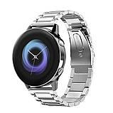 Ремешок стальной BeWatch 20 мм для Samsung Galaxy Active/Active 2 40 mm Серебро (1110405), фото 4