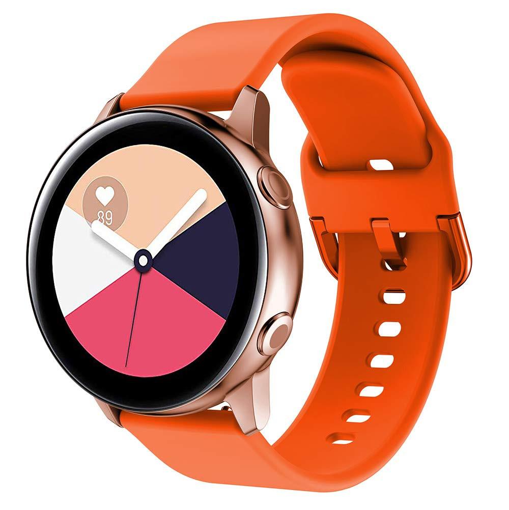 Ремінець BeWatch New 20 мм для Samsung Galaxy Watch 42 мм/Galaxy watch Active/active 2 40 mm Помаранчевий