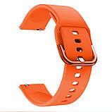 Ремешок BeWatch New 20 мм для Samsung Galaxy Watch 42 мм/Galaxy watch Active/active 2 40 mm Оранжевый, фото 2