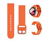 Ремінець BeWatch New 20 мм для Samsung Galaxy Watch 42 мм/Galaxy watch Active/active 2 40 mm Помаранчевий, фото 3