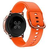 Ремінець BeWatch New 20 мм для Samsung Galaxy Watch 42 мм/Galaxy watch Active/active 2 40 mm Помаранчевий, фото 4