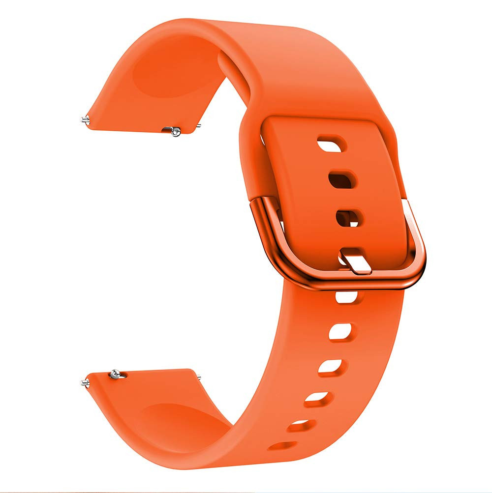 Ремешок BeWatch New силиконовый шириной 20 мм универсальный Оранжевый (1012307)
