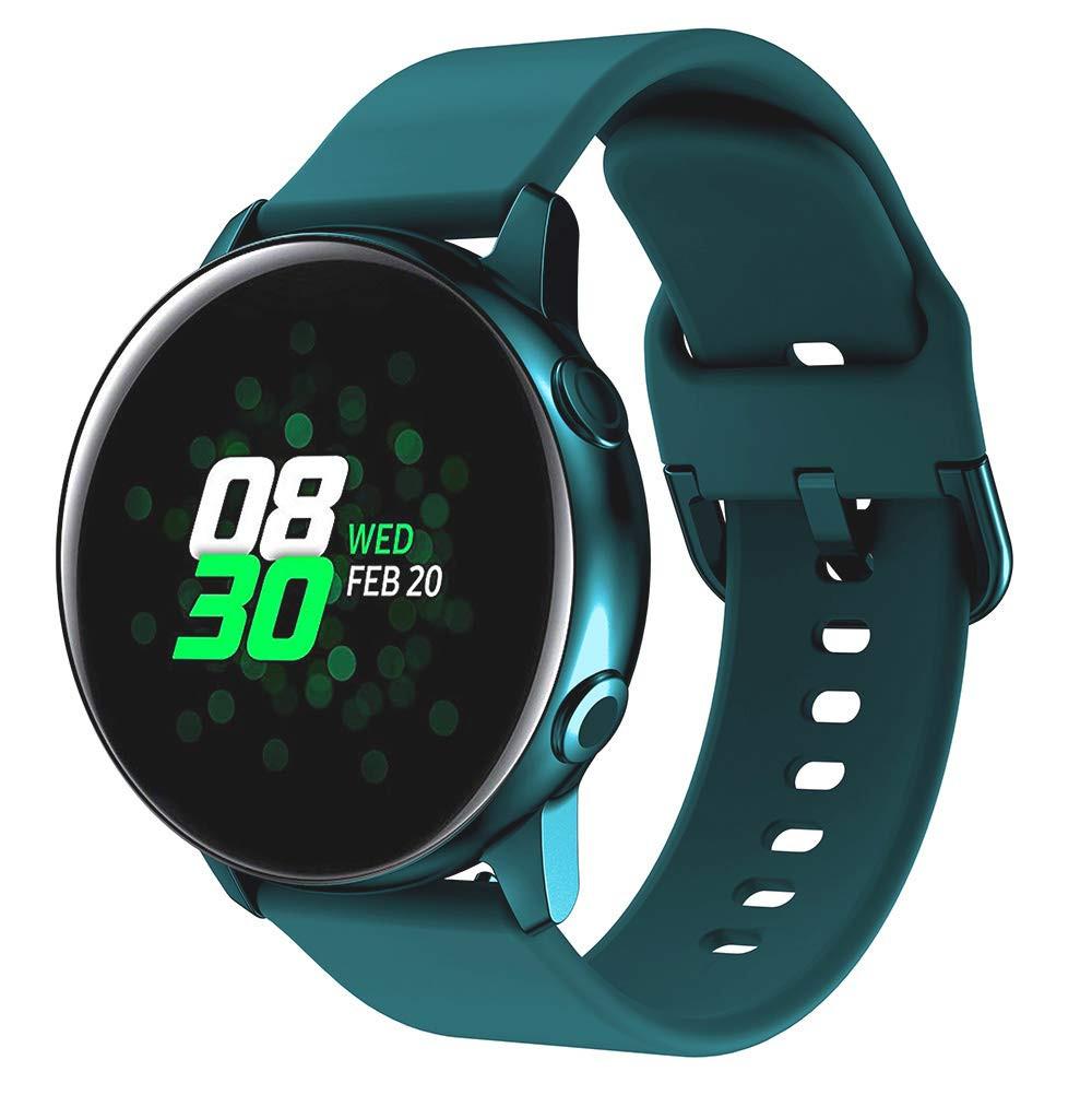 Ремешок BeWatch New 20 мм для Samsung Galaxy Watch 42 мм/Galaxy watch Active/active 2 40 mm Темно-зеленый