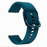 Ремешок BeWatch New 20 мм для Samsung Galaxy Watch 42 мм/Galaxy watch Active/active 2 40 mm Темно-зеленый, фото 2
