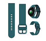 Ремешок BeWatch New 20 мм для Samsung Galaxy Watch 42 мм/Galaxy watch Active/active 2 40 mm Темно-зеленый, фото 3