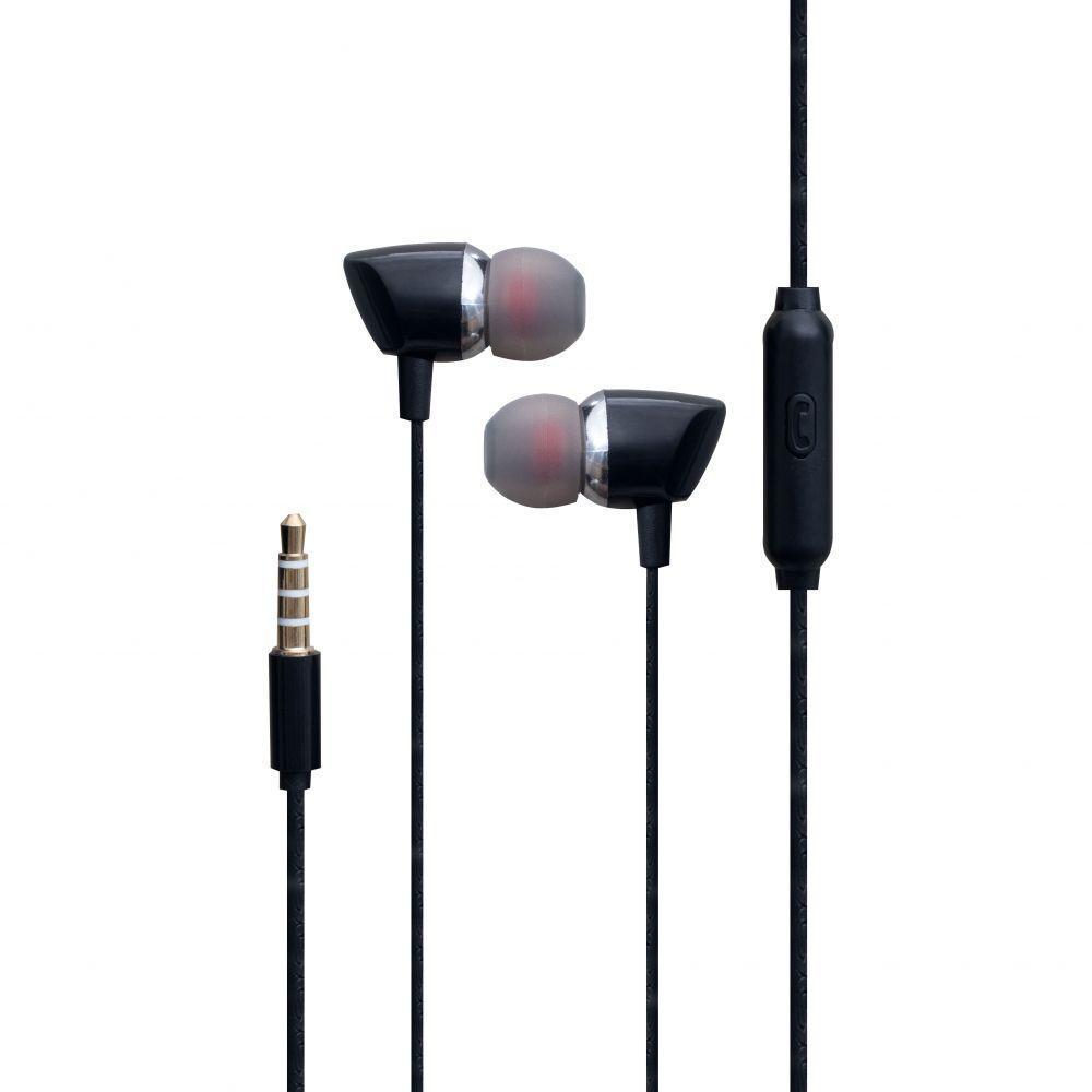 Вакуумні навушники Inkax EP-13 гарнітура для телефону Чорний