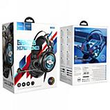 Наушники Hoco W101 PC Streamer игровая гарнитура для компьютера Черный, фото 4
