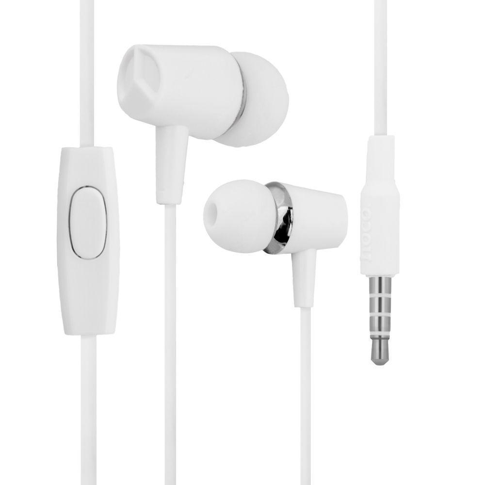 Вакуумные наушники Hoco M34 гарнитура для телефона Белый