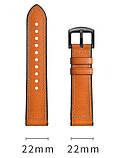 Ремешок BeWatch 22мм Силикон + Кожа для Samsung Galaxy Watch 46mm | 3 45mm | Gear S3 Коричневый (1230104), фото 3