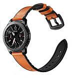 Ремешок BeWatch 22мм Силикон + Кожа для Samsung Galaxy Watch 46mm | 3 45mm | Gear S3 Коричневый (1230104), фото 5