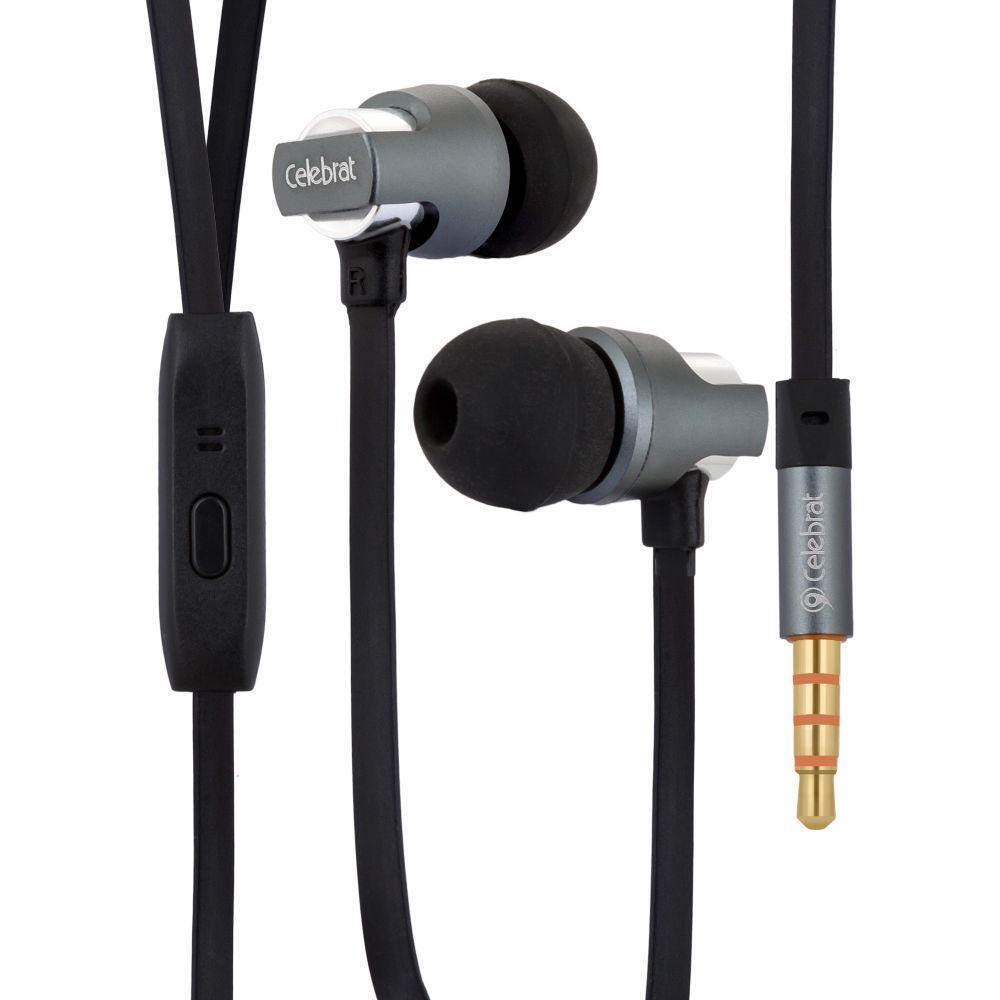 Вакуумні навушники Celebrat C8 гарнітура для телефону Чорний