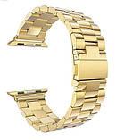 Браслет BeWatch для Apple Watch series 3 | 4 | 5 | 6 з шириною корпусу 38|40mm класичний сталевий Золото, фото 3