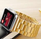 Браслет BeWatch для Apple Watch series 3 | 4 | 5 | 6 з шириною корпусу 38|40mm класичний сталевий Золото, фото 6