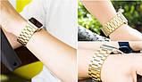 Браслет BeWatch для Apple Watch series 3 | 4 | 5 | 6 з шириною корпусу 38|40mm класичний сталевий Золото, фото 7