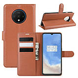 Чохол-книжка Litchie Wallet для OnePlus 7T Brown (hub_DyQc64703), фото 2