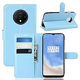 Чохол-книжка Litchie Wallet для OnePlus 7T Blue (hub_KdjE44429), фото 2