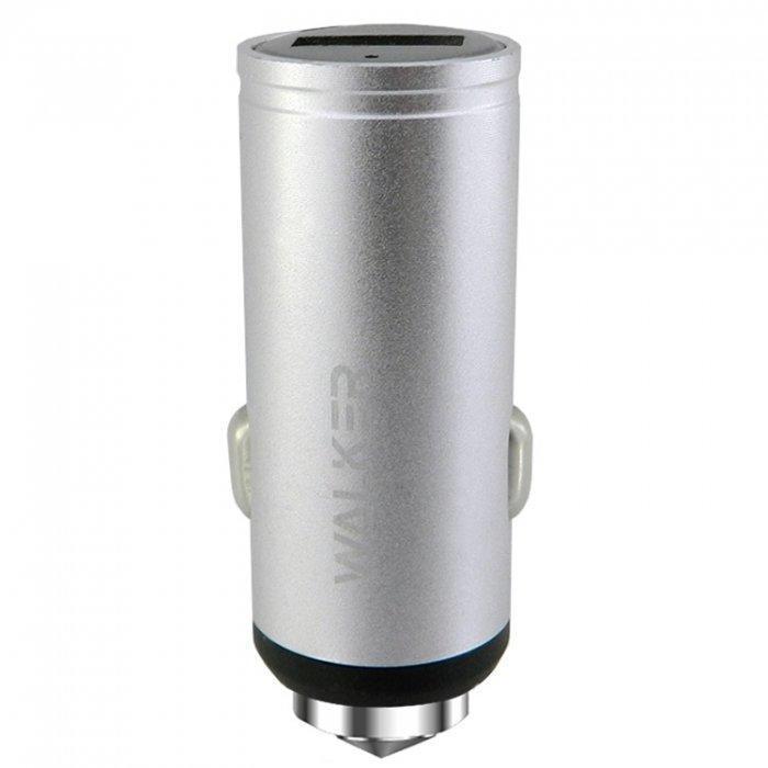 Автомобильное зарядное устройство Walker WCR-23 Qualcomm Quick Charge 3.0 1xUSB 2.4A Silver (arbc3574)