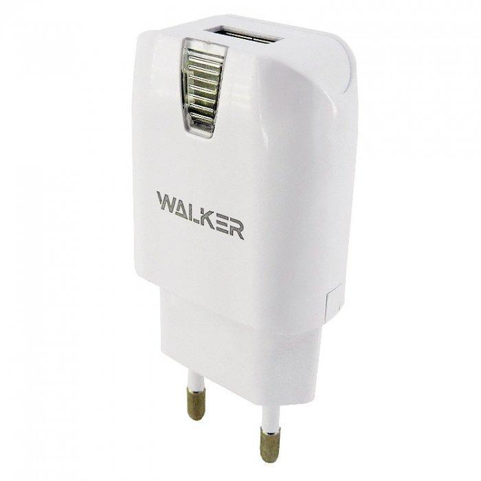 Мережевий зарядний пристрій Walker WH-11 1xUSB 1A Білий (arbc3544)