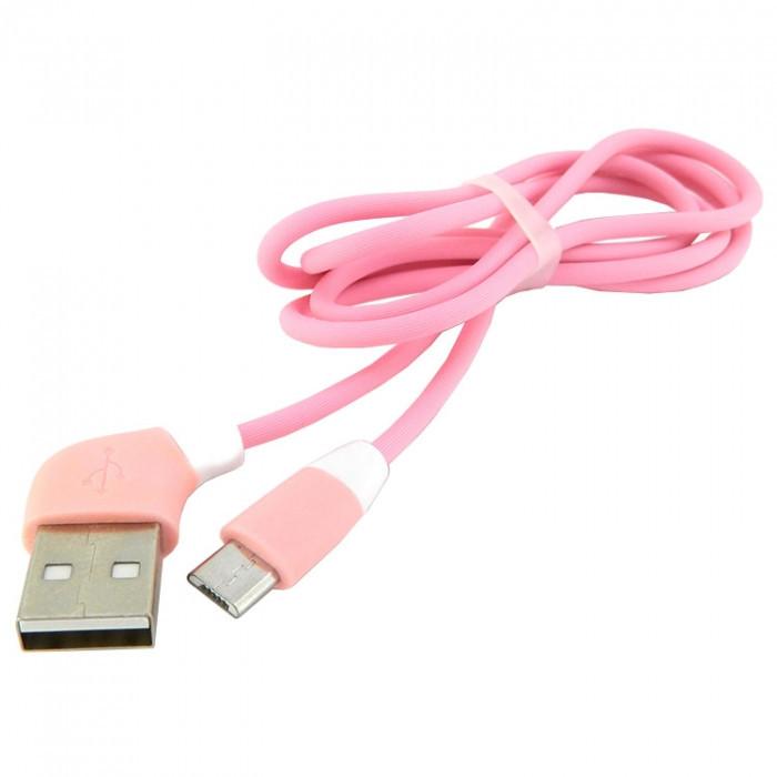Дата кабель micro USB to USB Walker C340 1 м Pink (arbc4574)