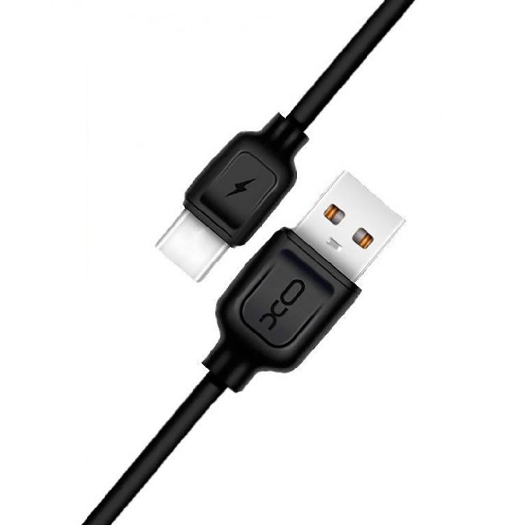 Кабель USB Cable XO NB36 2.1A Quick Charge Type-C прорезиненный 1 м Black (arbc5772)