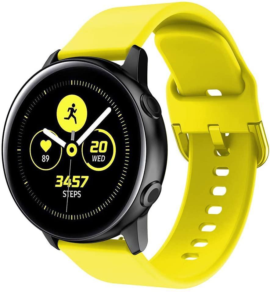 Ремешок BeWatch New 20мм для Samsung Galaxy Watch 42мм | Active | Active 2 Желтый (1012320)
