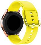 Ремешок BeWatch New 20мм для Samsung Galaxy Watch 42мм | Active | Active 2 Желтый (1012320), фото 2