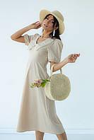 Сукні-міді з відкладним коміром Delvinss - бежевий колір, L (є розміри)