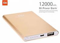 Power Bank Xiaomi slim портативная зарядка 12000mah replika (GIPS), Внешние аккумуляторы Power Bank
