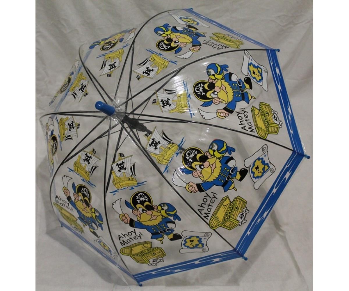 Детский зонт грибком RST полуавтомат пираты