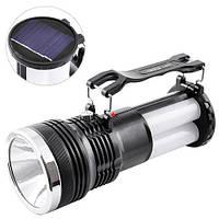 Фонарик аккумуляторный с солнечной панелью YJ-2881T (GIPS), Фонари ручные