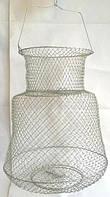 Садок рибальський металевий круглий діаметр 33см, садок