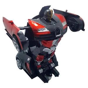 Машинка трансформер Bugatti Robot Car Size 1:18 - Красная