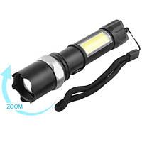 Тактический фонарик POLICE 8626C-XPE+COB, 1х18650, ЗУ microUSB, zoom (GIPS), Фонари ручные