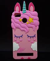 Чохол 3D Toy для Xiaomi Mi4c /Mi4i Бампер гумовий Єдиноріг Rose
