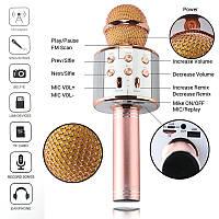 Беспроводной Bluetooth микрофон для караоке KTV-858 (GIPS), Микрофоны