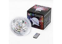 Світлодіодний дискошар в патрон LED UFO Bluetooth Crystal Magic Ball E27, світлодіодний дискошар