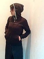 Костюм спортивный Dolce&Gabbana черный с лампасами, фото 1