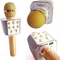 Беспроводной Bluetooth микрофон для караоке Wster WS-1688 (GIPS), Микрофоны