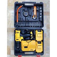 Шуруповерт 9994 з 2-ма АКБ набором біт, свердел і головок в кейсі DEWALT replica 2, набір інструментів