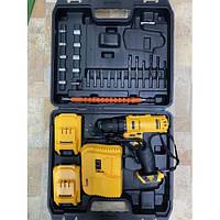 Шуруповерт 9993 з 2-ма АКБ набором біт, свердел і головок в кейсі DEWALT replica, набір інструментів