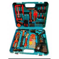 Шуруповерт 9997 з 2-ма АКБ і набором інструментів в кейсі MAKITA 12 v C-J SET replica, набір інструментів