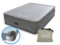 Надувна двоспальне ліжко Intex 64414 з вбудованим електро насосом (152-203-46 СМ) (GIPS)