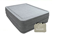 Надувна двоспальне ліжко Intex 64418 з вбудованим електро насосом (152-203-56 СМ) (GIPS)